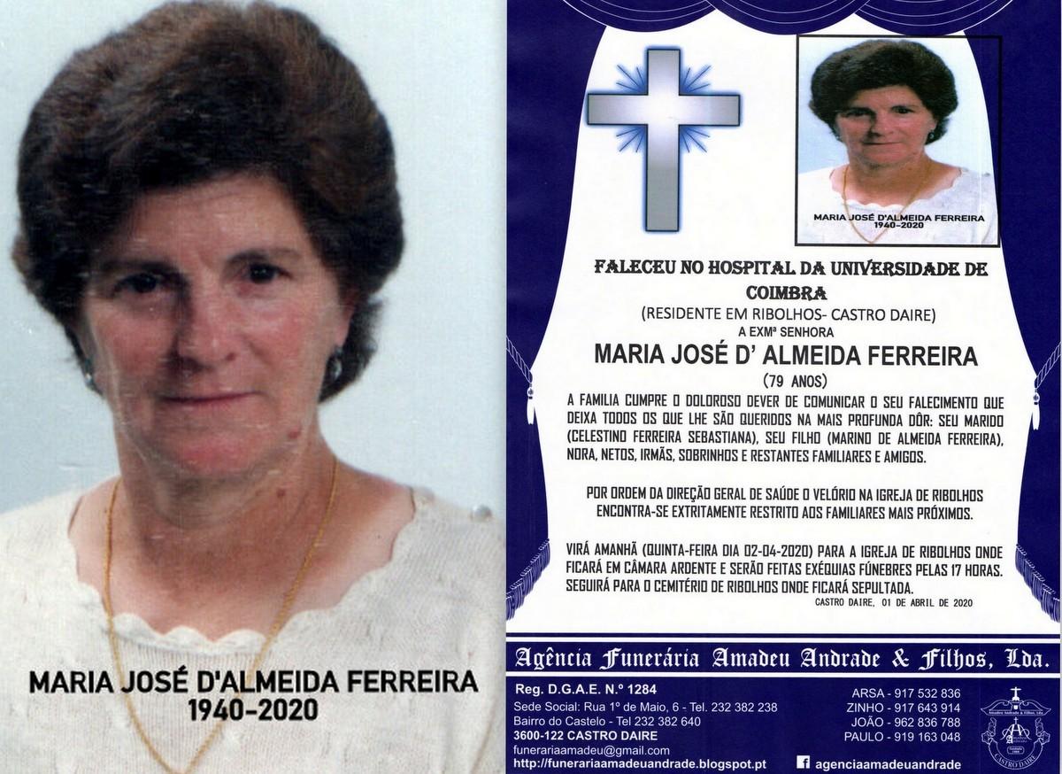 FOTO RIP DE MARIA JOSÉ DE ALMEIDA FERREIRA-79 ANO
