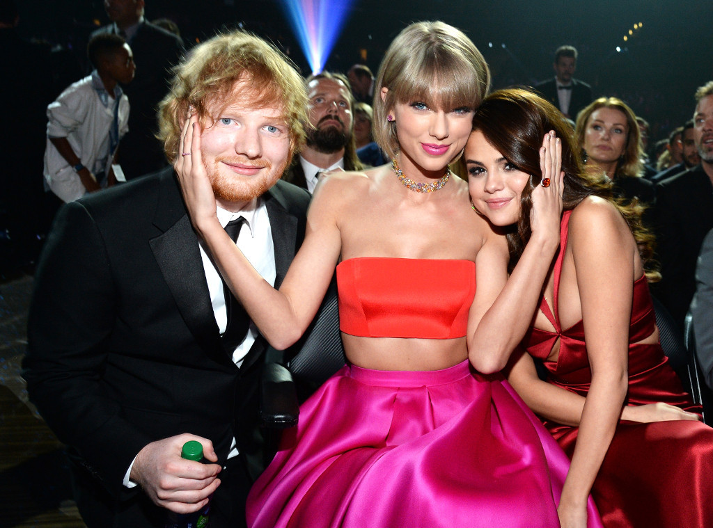 Ed Sheeran Taylor Swift Selena Gomez Grammy Awards