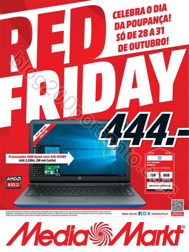 Novo Folheto Red Friday MEDIA MARKT promoções de