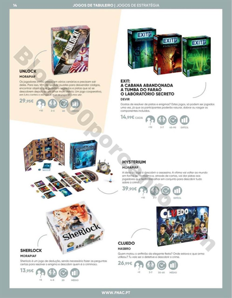 Antevisão Folheto FNAC Especial jogos tabuleiro p