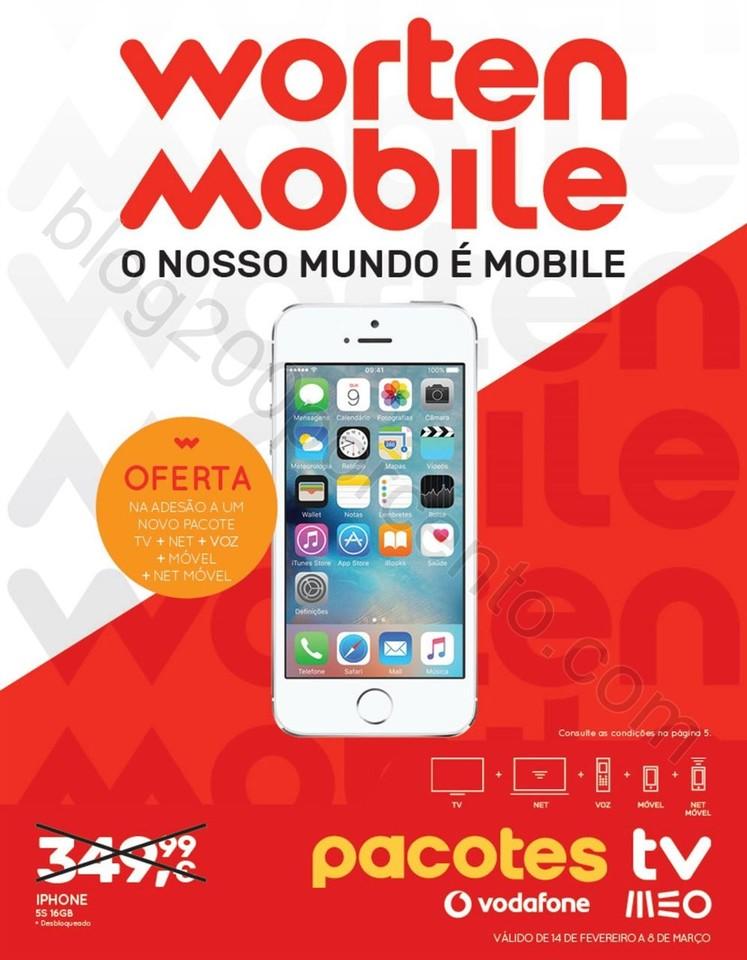Novo Folheto WORTEN Mobile Promoções até 8 mar