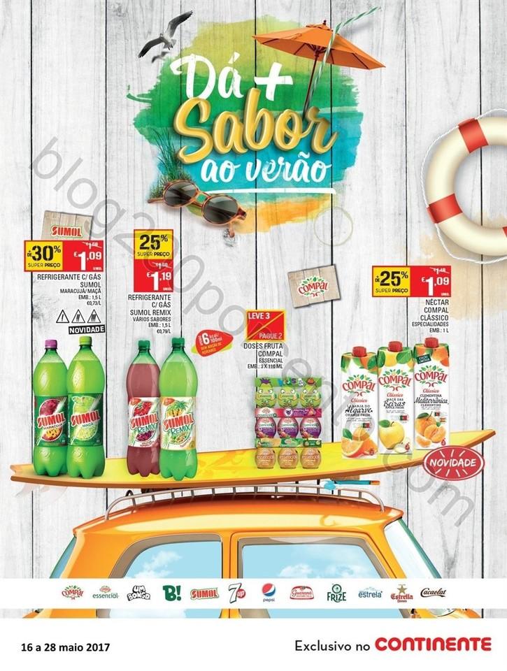 Antevivisão Folheto CONTINENTE Bebidas verão pro