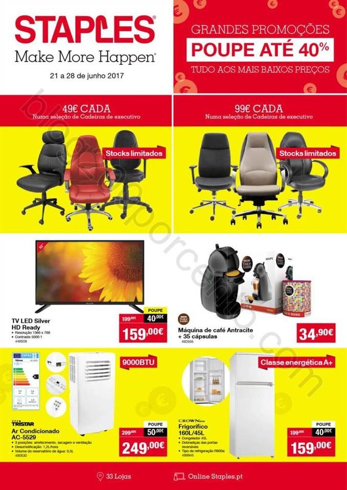 Antevisão Folheto STAPLES Promoções de 21 a 28