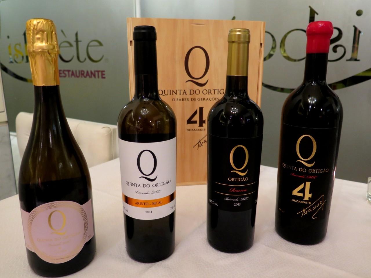 4 dos 6 vinhos da Quinta do Ortigão apresentados no LISBOÈTE