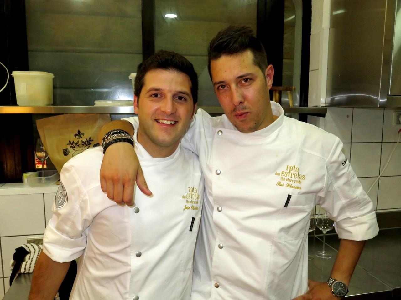 Na cozinha do BON BON, João Oliveira e Rui Silvestre