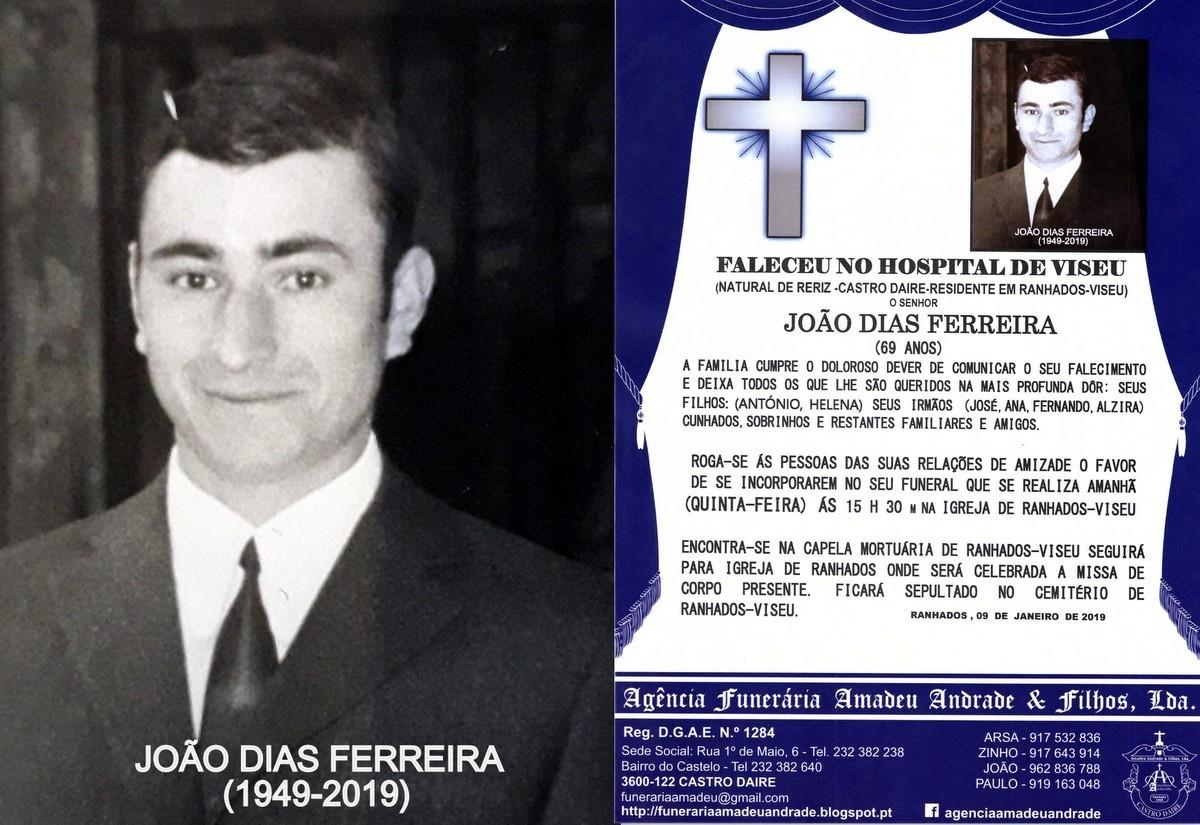 RIP FOTO DE JOÃO DIAS FERREIRA-69 ANOS (RANHADOS-