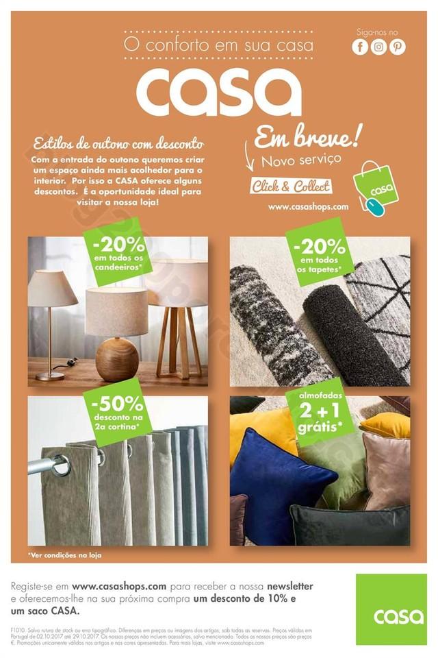 Antevisão Folheto CASA Outono Promoções de 2 a