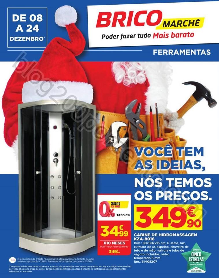 Novo Folheto BRICOMARCHÉ Promoções Natal de 8 a