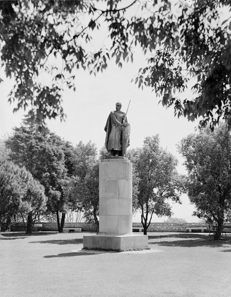 Estátua de Dom Afonso Henriques, 1961, foto de Ar