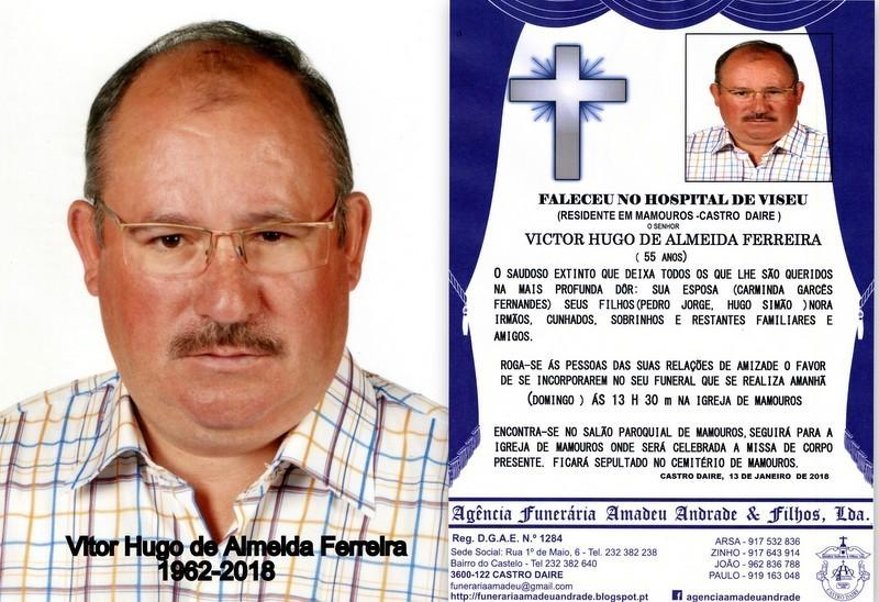 FOTO RIP- DE VITOR HUGO DE ALMEIDA FERREIRA -55 AN