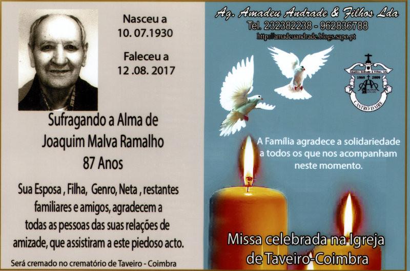 CARTÃO2  DE AGRADECIMENTO-JOAQUIM MALVA RAMALHO -