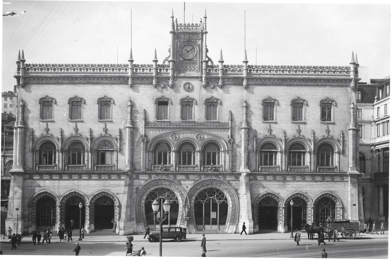 Estação do Rossio, Liboa (E. Portugal, s.d.)