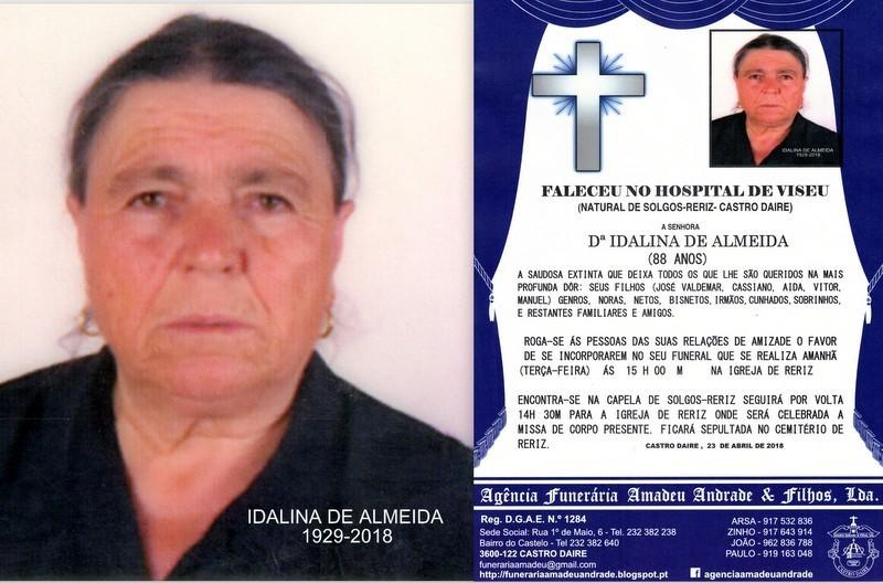 RIP FOTO -IDALINA DE ALMEIDA-88 ANOS (SOLGOS-RERIZ