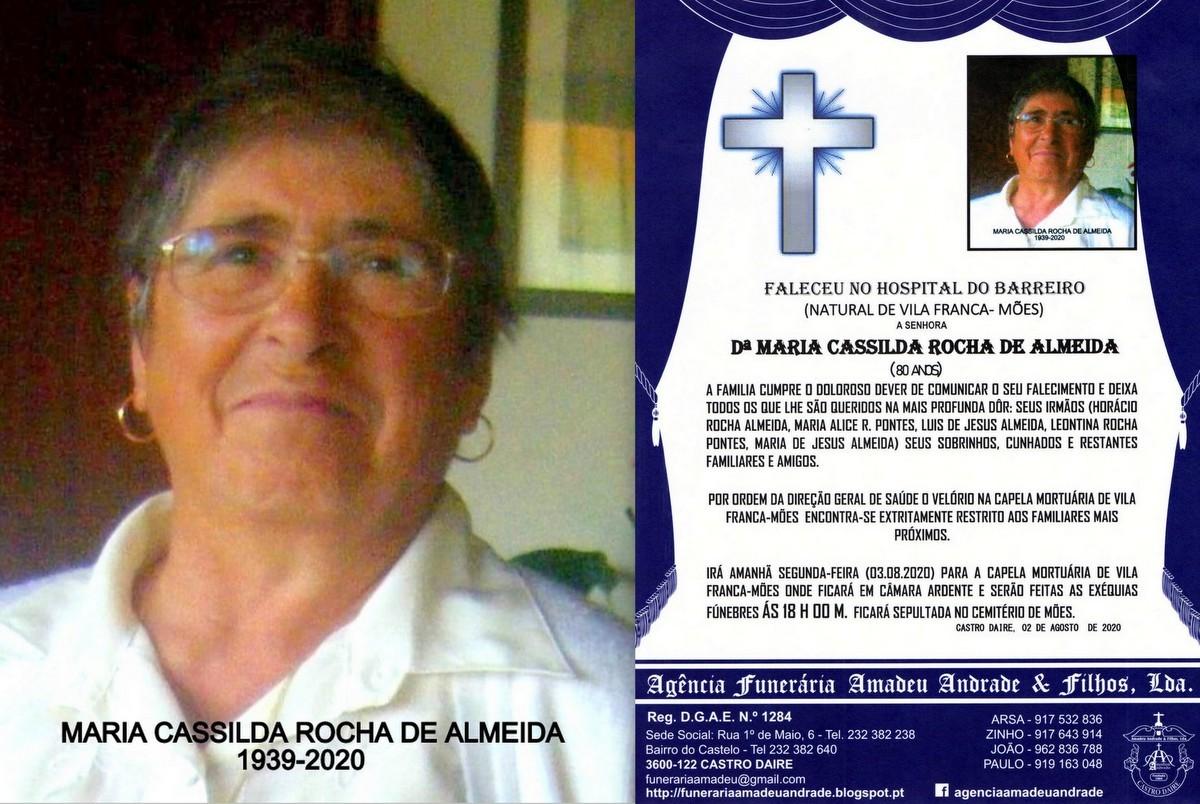 FOTO RIP DE MARIA CASSILDA ROCHA DE ALMEIDA-80 ANO