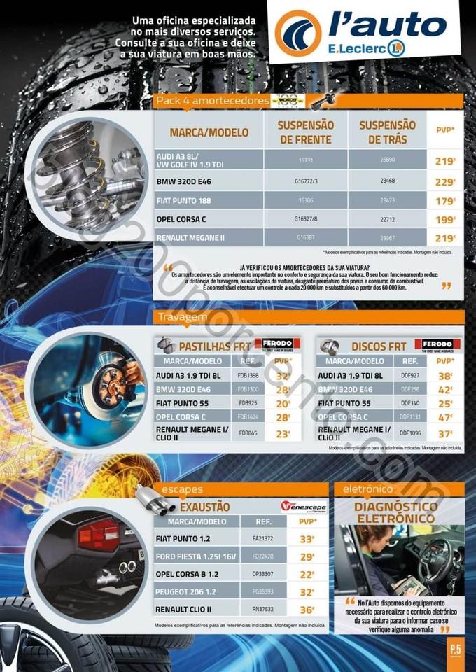 Antevisão Folheto E-LECLERC Auto promoções de 4