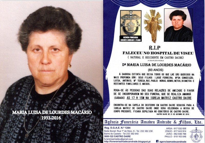 FOTO DE MARIA LUISA DE LOURDES MACÁRIO-83 ANOS (2