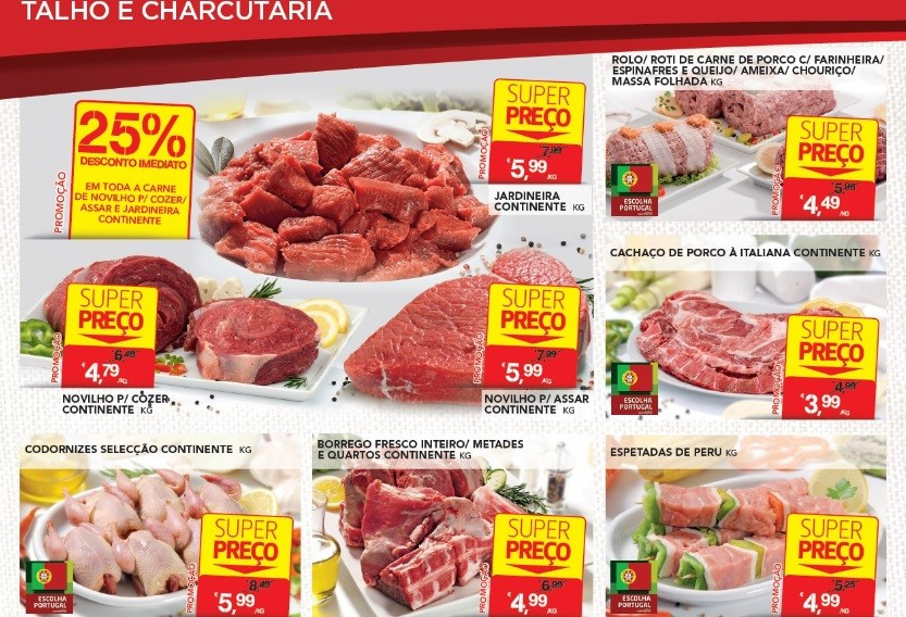 bricopoupar carnes promoções acumulaçao continente