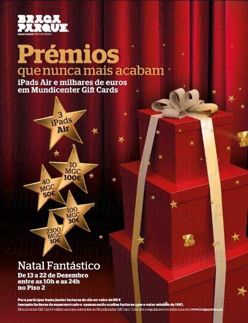Promoção de Natal | BRAGA PARQUE | de 13 a 22 dezembro