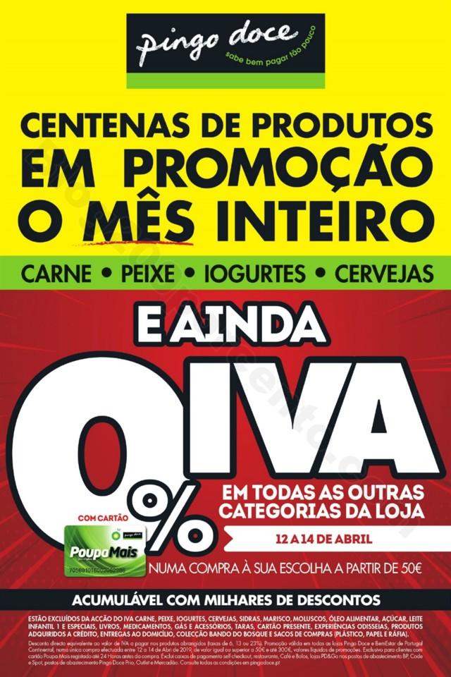 Antevisão Folheto Pingo Doce Fim Semana 12a15 abr