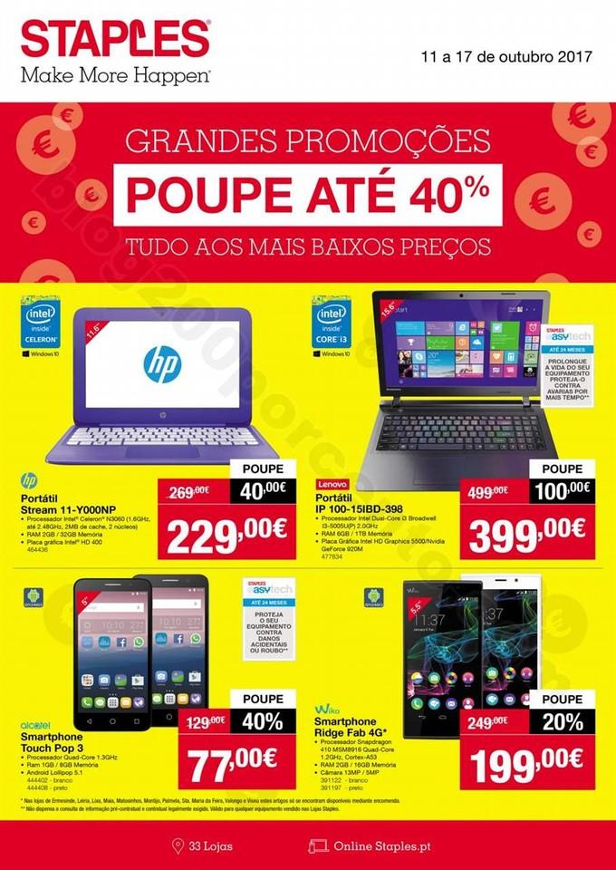 Antevisão Folheto STAPLES Extra promoções de 11