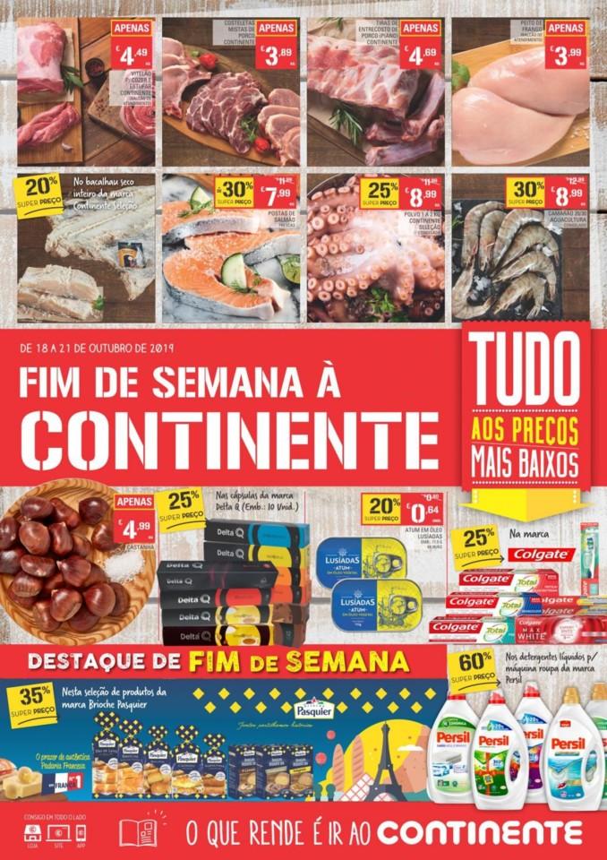 Promocoes folheto continente de 18 a 21 outubro br