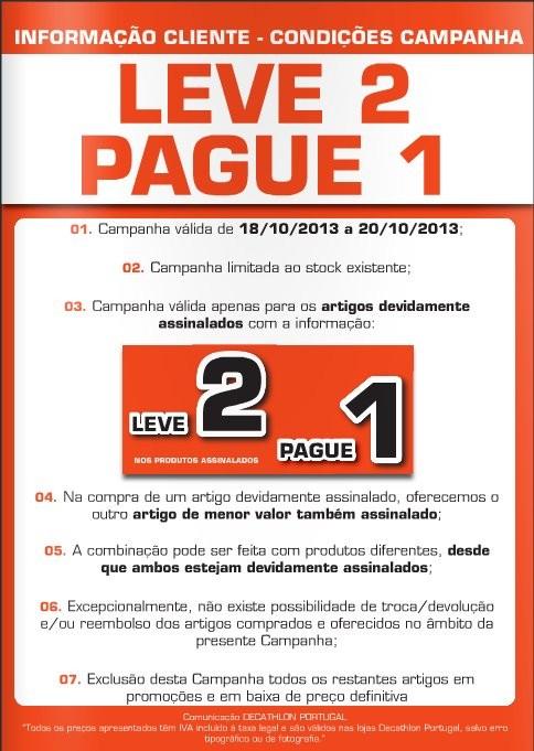 Leve 2 Pague 1 | DECATHLON | Condições, de 18 a 20 Outubro