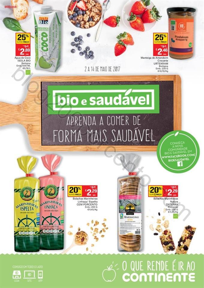 Novo Folheto CONTINENTE Bio & Saudável promoçõe