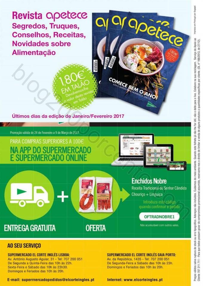 Novo Folheto EL CORTE INGLÉS Promoções de 24 fe