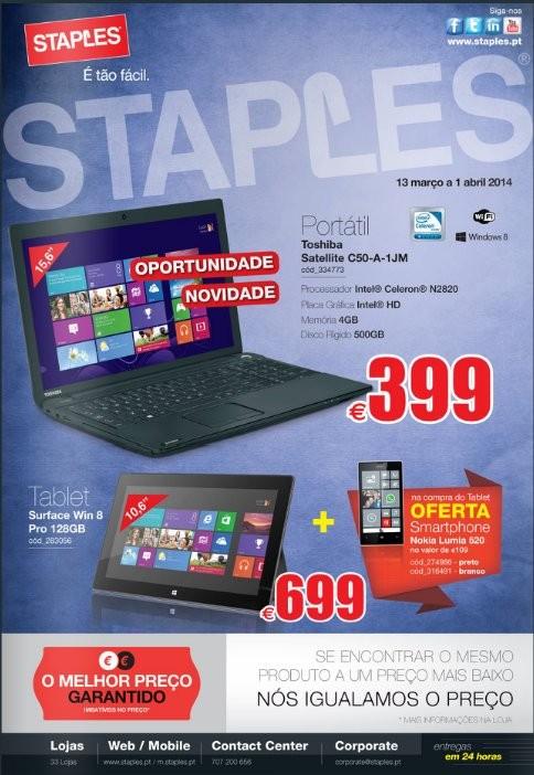 Novo folheto | STAPLES | de 13 março a 1 abril