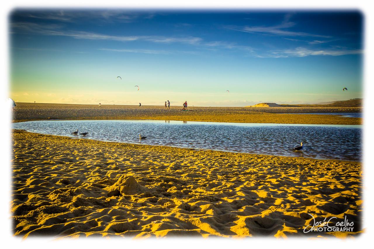 lagoa albufeira praia sky blue praia beach sesimbra