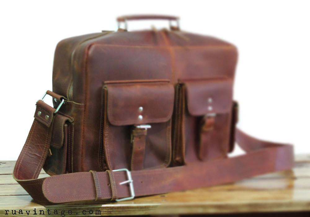 bandolera de piel para hombre - flight bag messeng