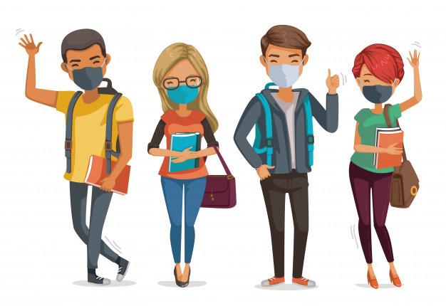 os-alunos-mascaram-o-grupo-sorrindo-e-juntos-pesso