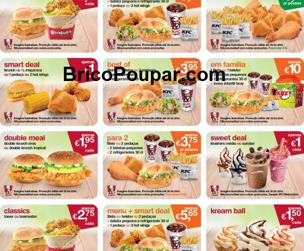 Novos Vales de desconto KFC