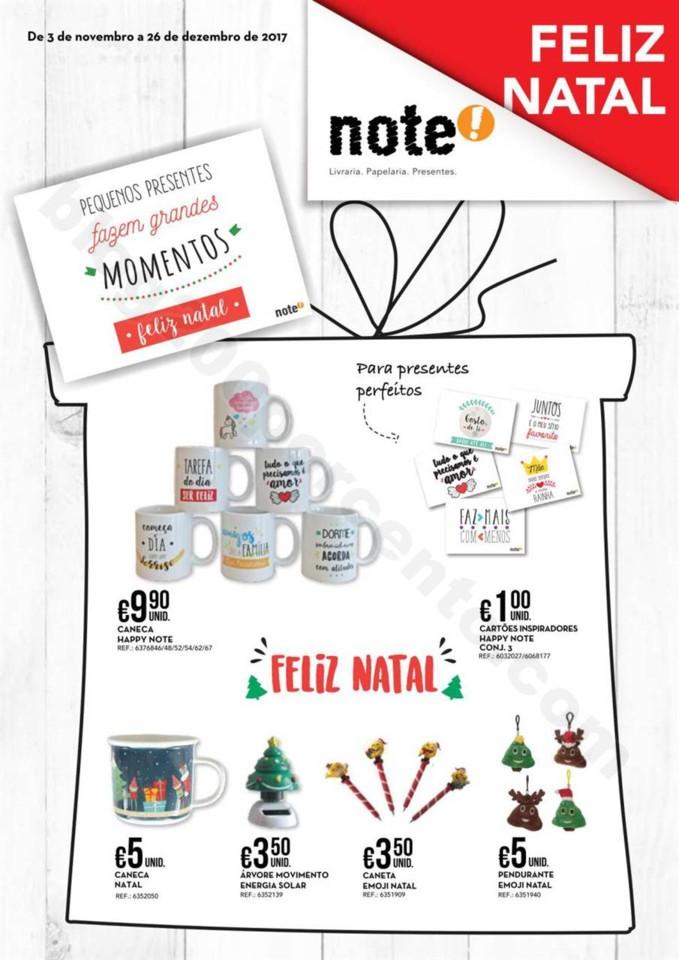 Antevisão Folheto NOTE Natal promoções de 3 nov