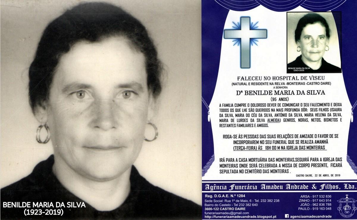 FOTO RIP  DE BENILDE MARIA DA SILVA-95 ANOS (RELVA