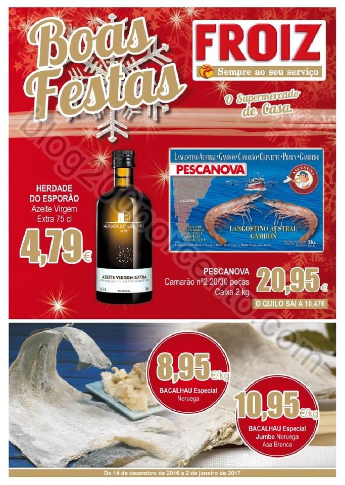 Novo Folheto FROIZ Promoções de 14 dezembro a 2