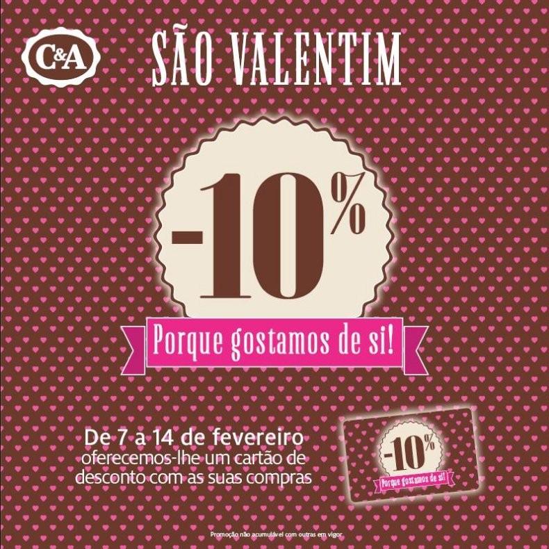 Promoção dia dos namorados | C&A| de 7 a 14 fevereiro