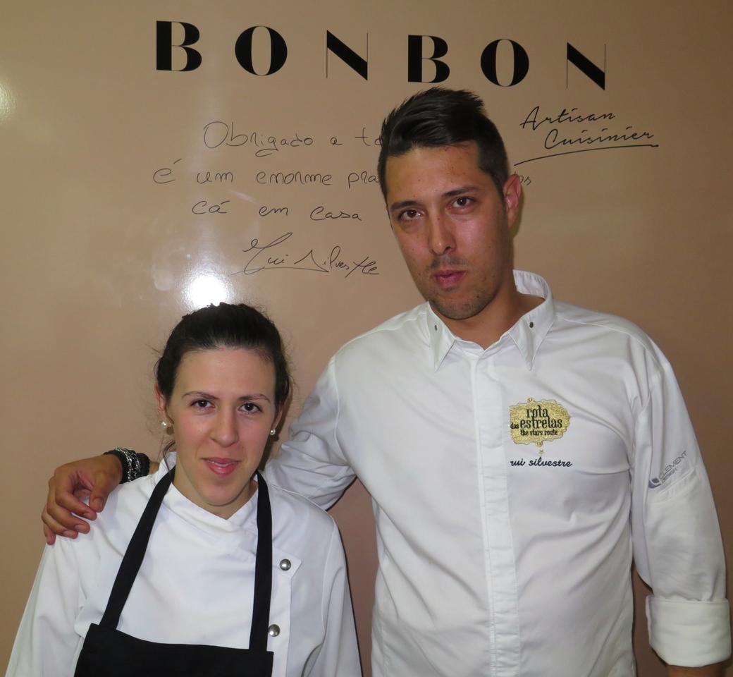 Chef pasteleira Nadia Carrasco e Rui Silvestre