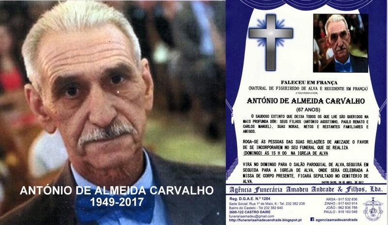 FOTO DE ANTÓNIO DE ALMEIDA CARVALHO-67 ANOS (ALVA