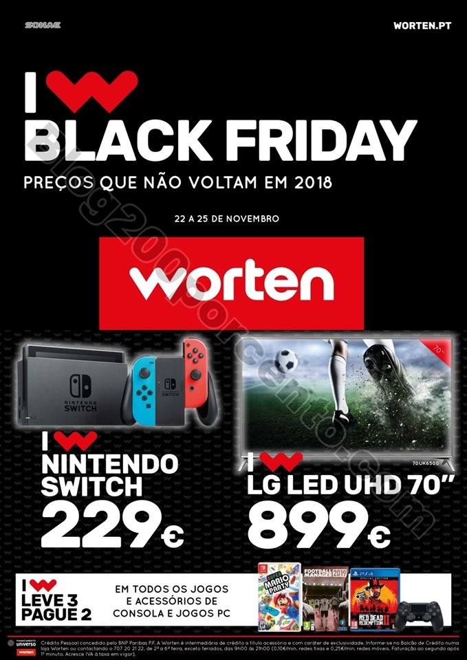Antevisão Folheto WORTEN Black Friday promoções
