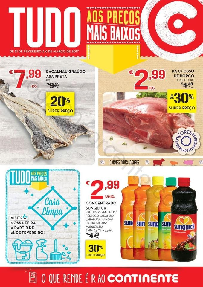 Antevisão Folheto CONTINENTE Açores de 21 fevere