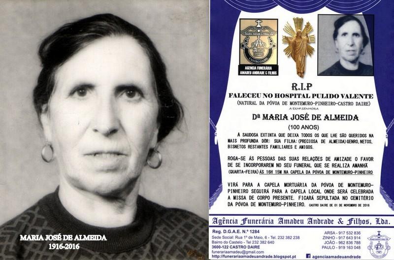 FOTO DE MARIA JOSÉ DE ALMEIDA -100 ANOS (PÓVOA D