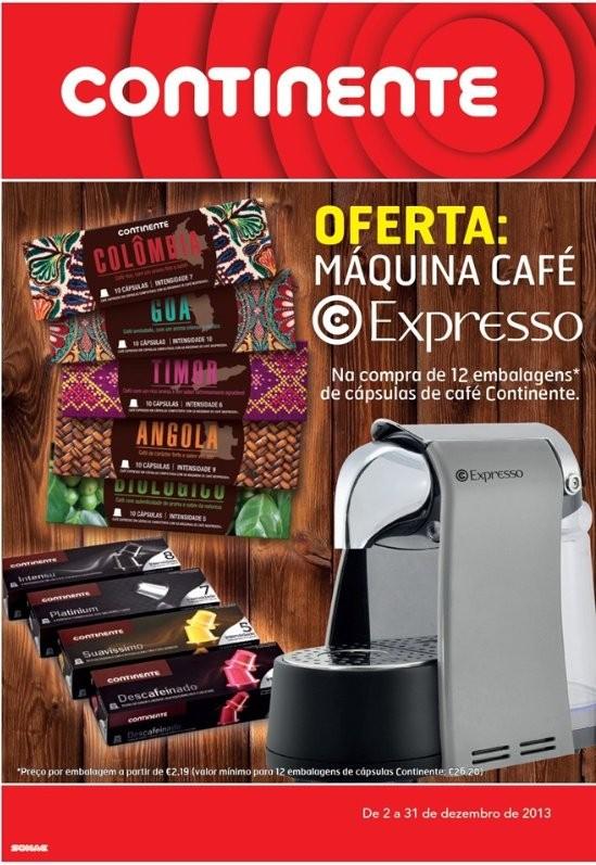 Oferta de máquina café | CONTINENTE | de 2 a 31 dezembro