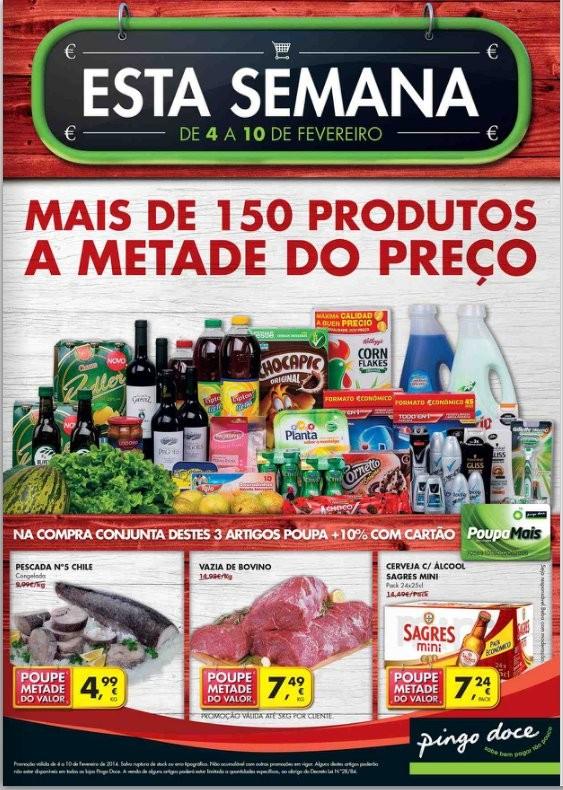 Novo folheto   PINGO DOCE   de 4 a 10 fevereiro - Online