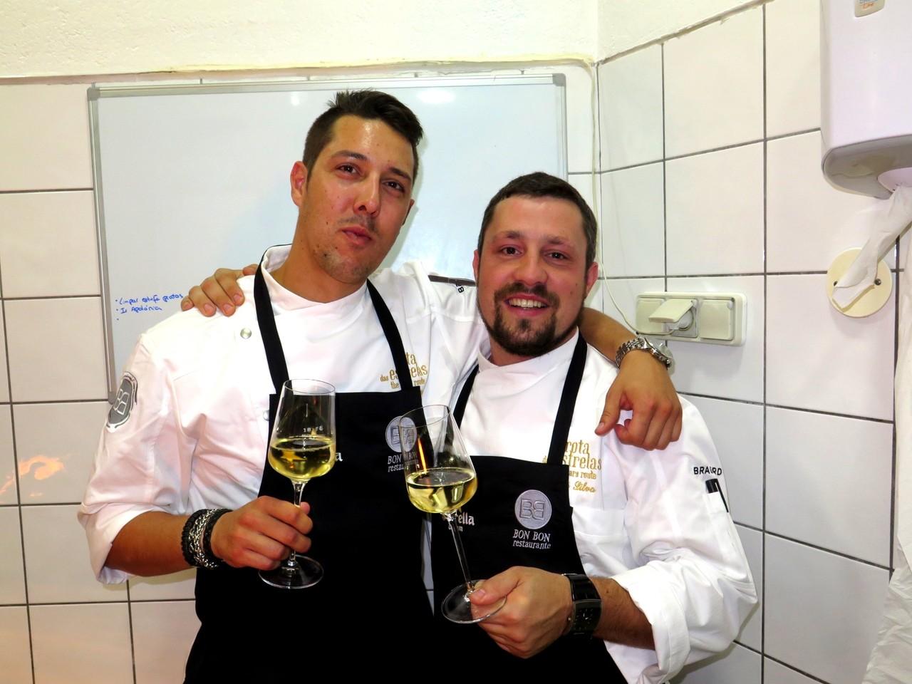 Dois chefes estrelados: Rui Silvestre e André Silva