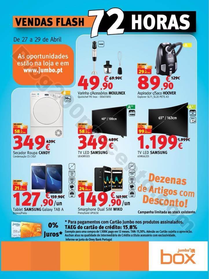 Vendas Flash JUMBO - BOX Promoções de 27 a 29 ab