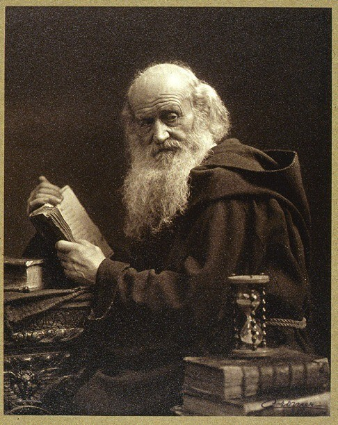 Gabriel Cromer, ca. 1920, Monk with books and hour