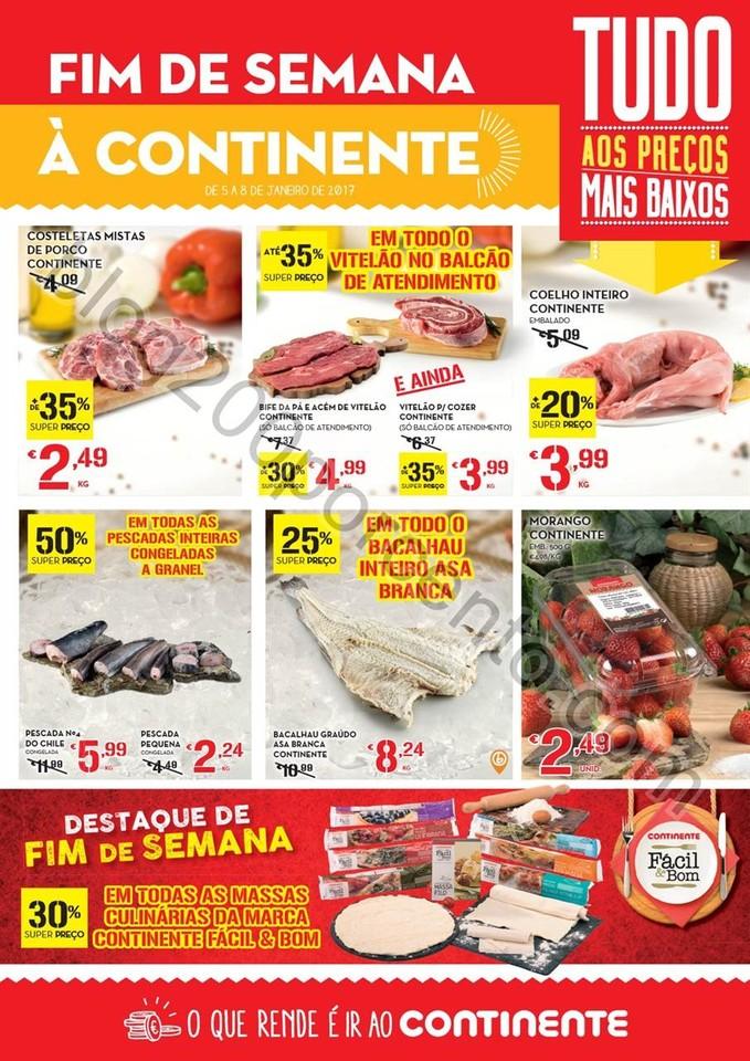 Antevisão Folheto CONTINENTE Fim de semana de 5 a