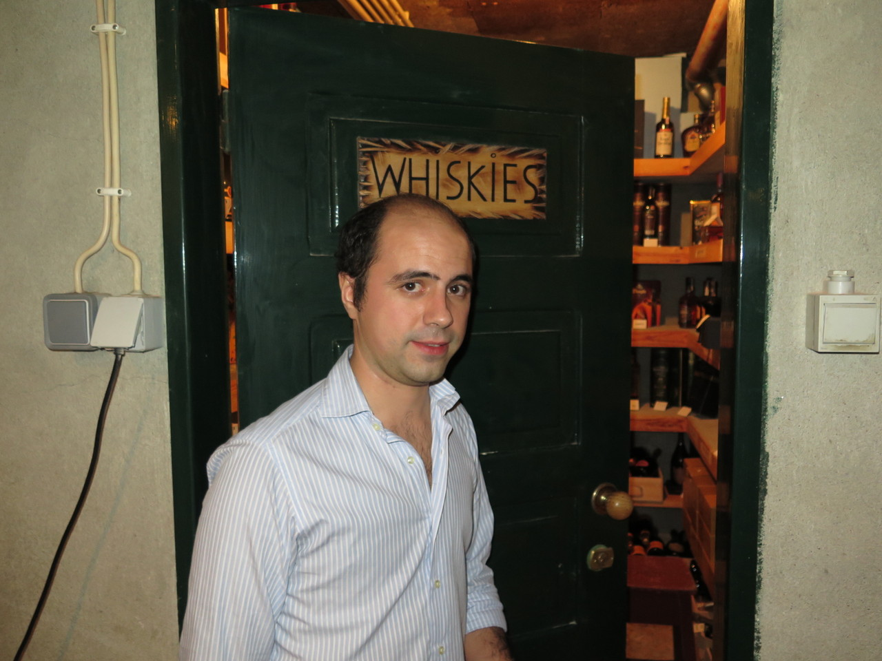 A sala dos whiskies