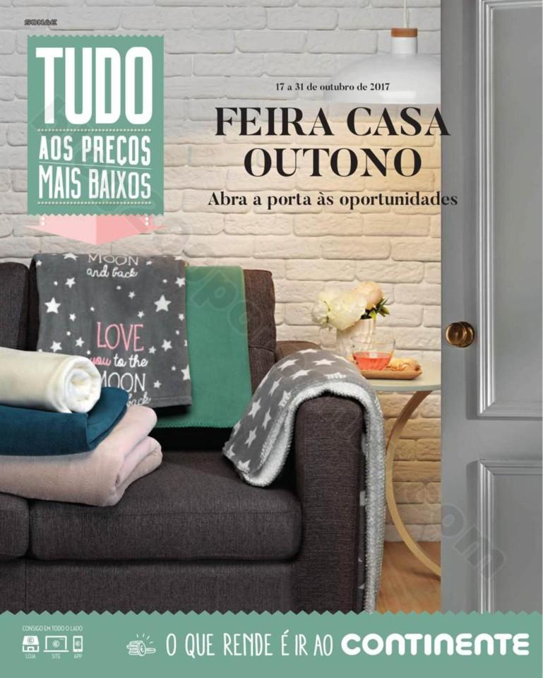 Antevisão Folheto CONTINENTE Casa Outono promoç